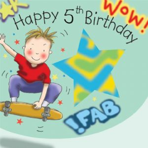 TW647 - Age 5 Birthday Card Boys